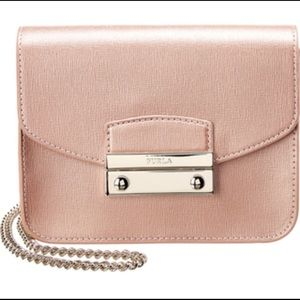 Furla Julia Mini Leather Crossbody - Moonstone